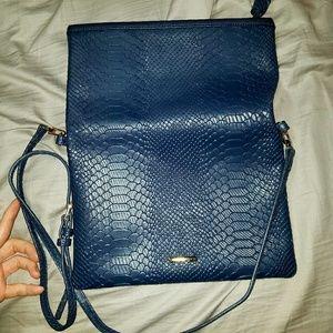 Gigi Newyork Blue python clutch/satchel